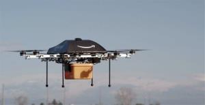 This undated image provided by Amazon.com shows one of its prototype delivery drones.
