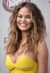 Chrissy Teigen arrives at the Guys Choice Awards at Sony Pictures Studios on Saturday, June 7, 2014, in Culver City, Calif.