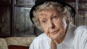 This film image released by the Tribeca film Festival shows Elaine Stritch in a scene from Elaine Stritch: Shoot Me.
