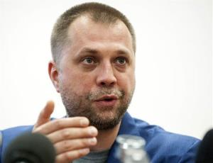 Aleksandr Borodai, Prime Minister of the self proclaimed 'Donetsk People's Republic', speaks at a news conference in Donetsk, eastern Ukraine, Friday, July 18, 2014.
