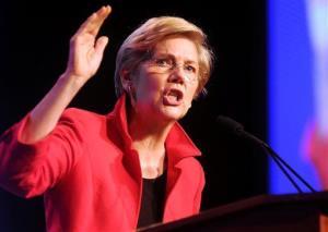Sen. Elizabeth Warren speaks during the state Democratic convention in Worcester, Mass., Friday, June 13, 2014.