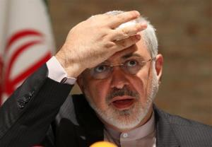 Iranian Foreign Minister Mohammad Javad Zarif speaks to the media after closed-door nuclear talks in Vienna, Austria.