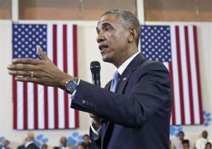 President Barack Obama speaks about the My Brother's Keeper Initiative, at the Walker Jones Education Campus in Washington, Monday, July 21, 2014.
