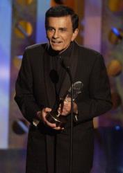 In this 2003 file photo, Casey Kasem accepts a radio icon award during the Radio Music Awards in Las Vegas.