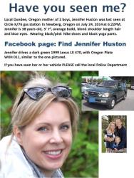 The missing persons flier.
