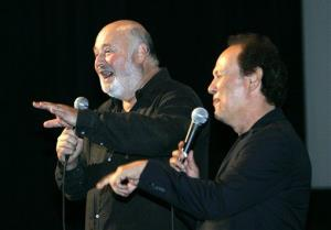Actor/director Rob Reiner, left, and actor Billy Crystal present their film When Harry Met Sally at AFI's 40th Anniversary presented by Target, Wednesday, Oct. 3, 2007, in Los Angeles.