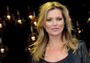 British model Kate Moss launches her new clothing range in Oxford Street, London, on April 29, 2014.