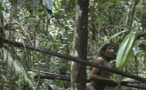 File photo of an isolated tribe seen by Brazil's National Indian Foundation (FUNAI) last year.