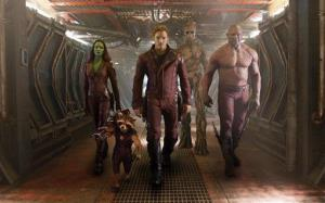 This image released by Disney-Marvel shows some of the cast of Guardians of the Galaxy.