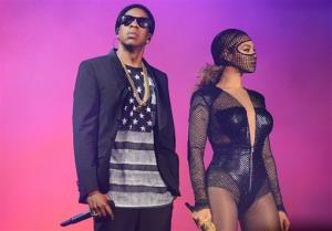 Beyonce and Jay Z perform on stage during the On the Run tour at Safeco Field on Wednesday, July 30, 2014, in Seattle.