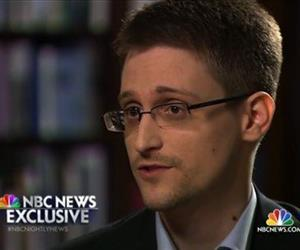 In this May 27, 2014, file photo, Edward Snowden speaks to NBC News. Snowden told Williams that he worked undercover and overseas for the CIA and the NSA.