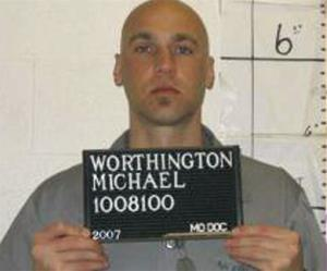 This April 4, 2007, photo provided by the Missouri Department of Corrections shows Michael Worthington, who was executed for killing a female neighbor in 1995.