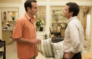 This undated publicity photo released by Netflix shows Will Arnett, left, and Jason Bateman in a scene from Arrested Development.