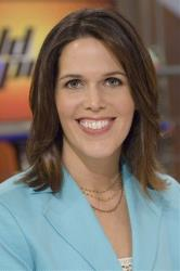 In this photo released by ESPN, co-host of the ESPN First Take morning show Dana Jacobson is shown in New York, on Sept. 8, 2006.