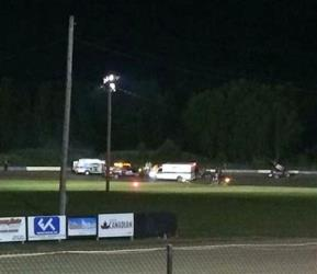 The scene at Canandaigua Motorsports Park on Saturday, Aug. 9, 2014, where driver Kevin Ward Jr. was killed after jumping onto the track to confront Tony Stewart.