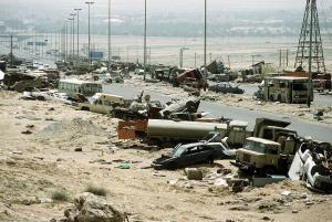 An image of the so-called Highway of Death.