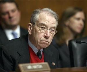 In this Jan. 29, 2014, file photo, Sen. Chuck Grassley, R-Iowa, ranking member of the Senate Judiciary Committee, appears at a hearing on Capitol Hill in Washington.