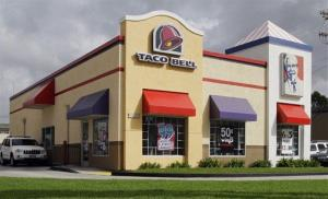 This Oct. 6, 2010, file photo shows a Taco Bell restaurant operated by the Fortune 500 company Yum! Brands in Los Angeles.