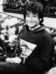 This 1978 file photo originally released by ABC shows Robin Williams on the set of ABC's Mork & Mindy.