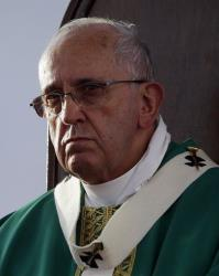 Pope Francis celebrates a mass in Caserta, Italy, Saturday, July 26, 2014.