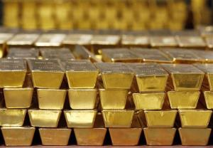File photo of gold bars.
