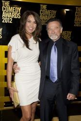 Robin Williams and wife Susan Schneider arrive at the 2012 Comedy Awards in New York.