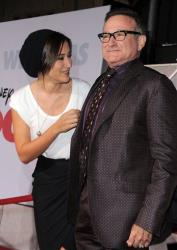 Zelda Williams and Robin Williams arrive at the premiere of Old Dogs on Monday Nov. 9, 2009, in Los Angeles.