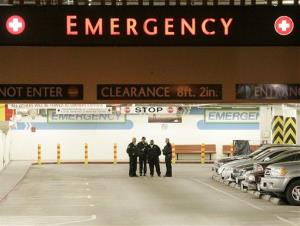 An emergency room entrance is shown in this 2008 file photo.