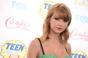 This Aug. 10, 2014 file photo shows Taylor Swift at the Teen Choice Awards at the Shrine Auditorium in Los Angeles.