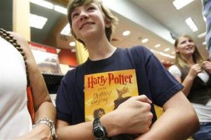 A 2007 file photo of a happy Harry Potter fan.
