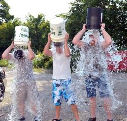 Nashville recording artists the Marshall Lowry Band was issued the ALS Ice Bucket Challenge by Lowry's uncle Steve McDonald. Wednesday afternoon, Aug. 20, 2014 in Fairmont, W. Va.