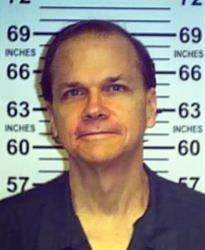 This June 1, 2013 photo shows Mark David Chapman at the Wende Correctional Facility in Alden, NY.