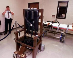 File photo of an electric chair at the Riverbend Maximum Security Institution in Nashville, Tenn.