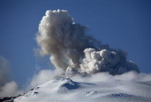 A 2010 file photo of ash and dust from the Eyjafjallajokull eruption.