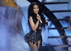 This June 29, 2014 file photo shows Nicki Minaj performing at the BET Awards.