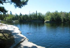 This August 2013 photo shows an old granite quarry now used as a summertime swimming spot on Vinalhaven Island, Maine.