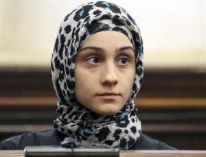 Ailiana Tsarnaeva, sister of the Boston Marathon bombing suspects, in a 2013 file photo.