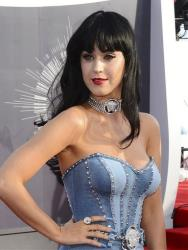 Katy Perry arrives at the MTV Video Music Awards at The Forum on Sunday, Aug. 24, 2014, in Inglewood, Calif.