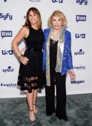 Melissa and Joan Rivers attend the NBCUniversal Cable Entertainment 2014 Upfront at the Javits Center on Thursday, May 15, 2014, in New York.