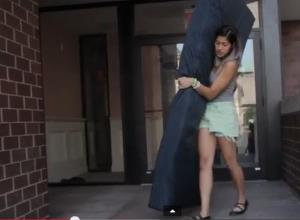 A frame grab from video in which Emma Sulkowicz talks to the 'Columbia Spectator' about her project.