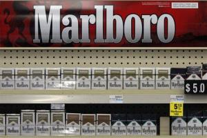 Marlboro cigarettes on display in a CVS store in Pittsburgh.