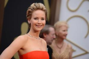 In this March 2, 2014 file photo, Jennifer Lawrence arrives at the Oscars at the Dolby Theatre in Los Angeles.
