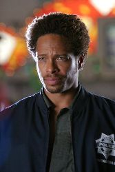Gary Dourdan in character as Warrick Brown in CSI: Crime Scene Invesigation.