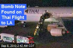 Bomb Note Found on Thai Flight to LA