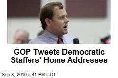 GOP Tweets Democratic Staffers' Home Addresses