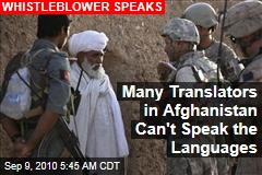 US Afghan Translators Can't Speak Country's Languages