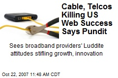 Cable, Telcos Killing US Web Success Says Pundit