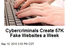 Cybercriminals Create 57K Fake Websites a Week