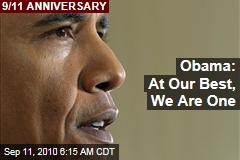 Obama: At Our Best, We Are One