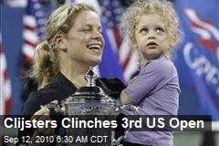 Clijsters Clinches 3rd US Open